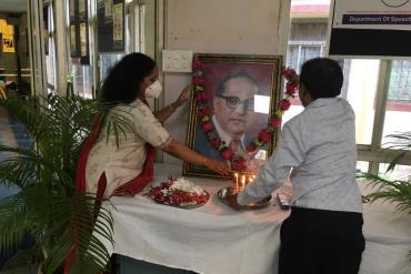 Institute celebrated 129th Birth Anniversary of Dr.Babasaheb Ambedkar on 14th April 2020