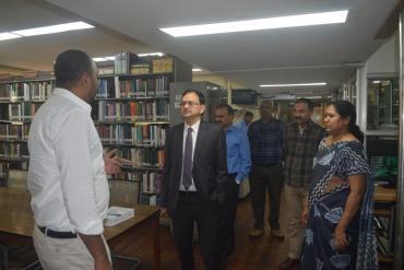 Visit to Library by Dr. Prabodh Seth, JS, DEPwd, MSJE, Govt. of India