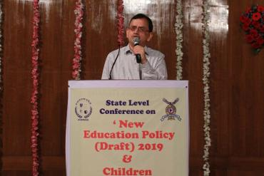 "State Level Conference on ""New Education Policy (Draft) 2019 & Children with Disabilities"" on 16 Aug 2019 organized by AYJNISHD & Bharti Vidyapeeth at Pune"