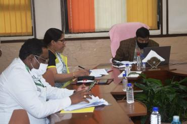 Shri Ramdas Athawale, Hon. Minister of State for Social Justice & Empowerment attending meeting of the Consultative Committee of Parliament for the Misitry of Social Justice and Empowerment