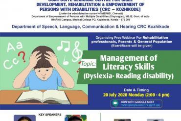 Webinar on Management of Literacy skills(Dyslexia-Reading disability)