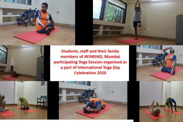 International Yoga Day Celebration on 21st June at AYJNISHD-Participants